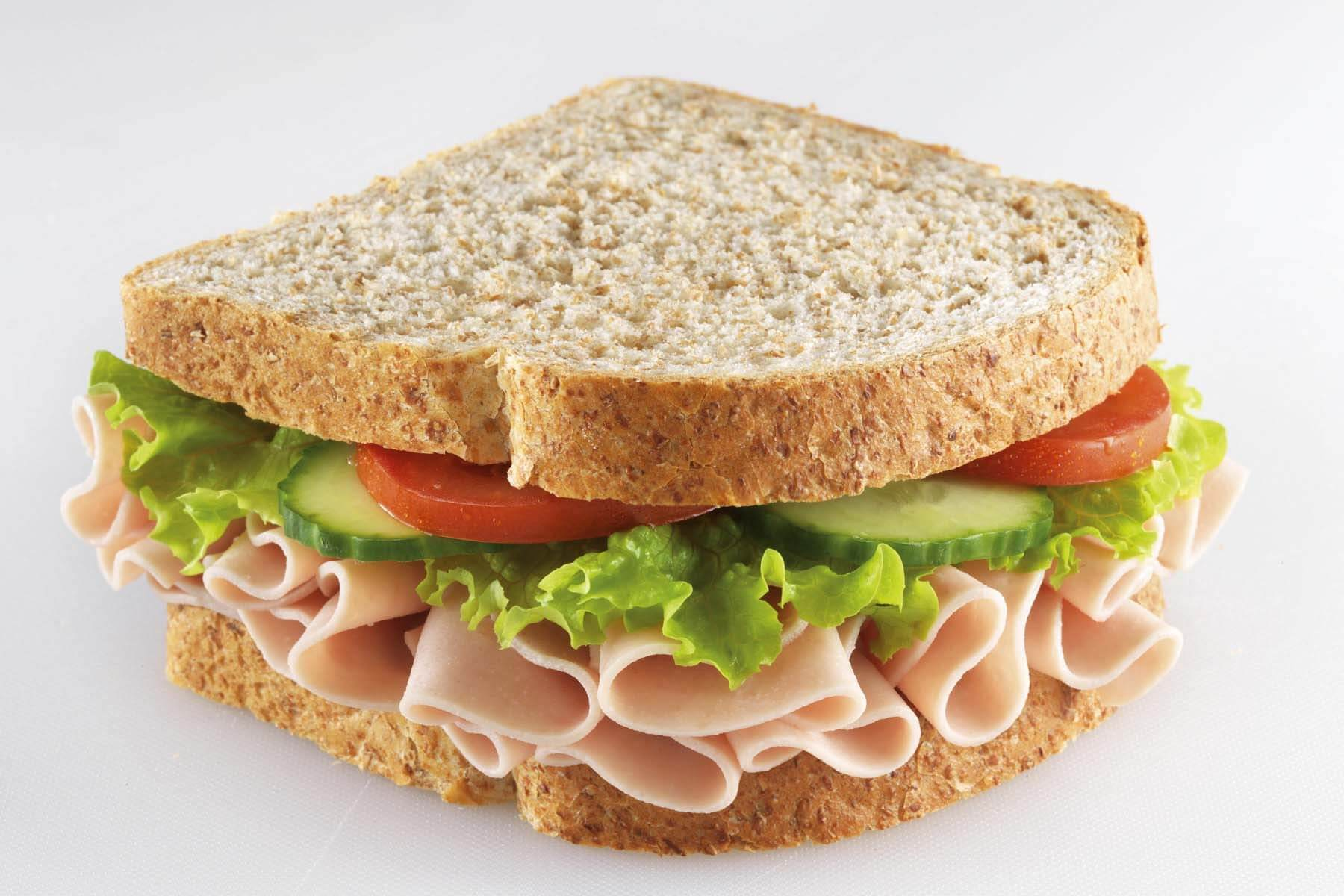 a ham sandwich, representing that you can mix wet and dry dog food