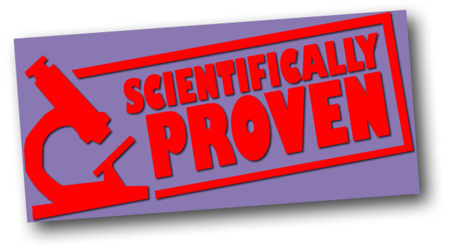 badge stating scientifically proven