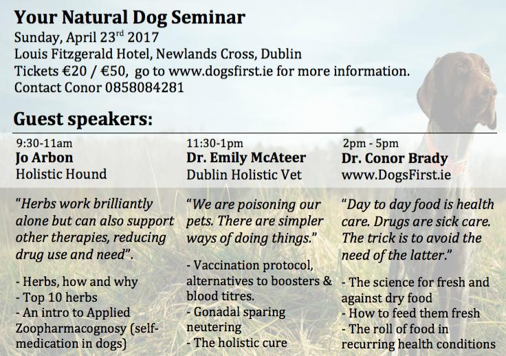 Your Natural Dog Seminar Flyer Back