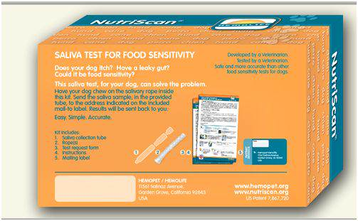 Nutriscan, for dogs with recurring skin and gut conditions