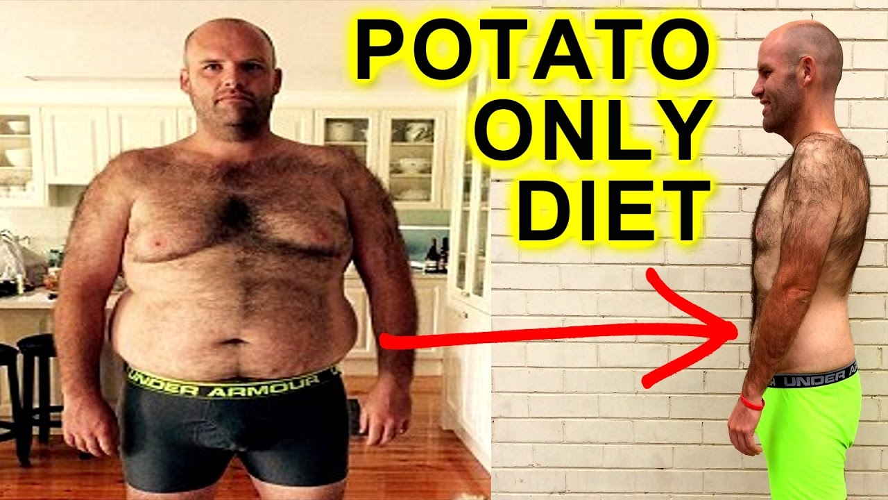 man loses weight on potatoes