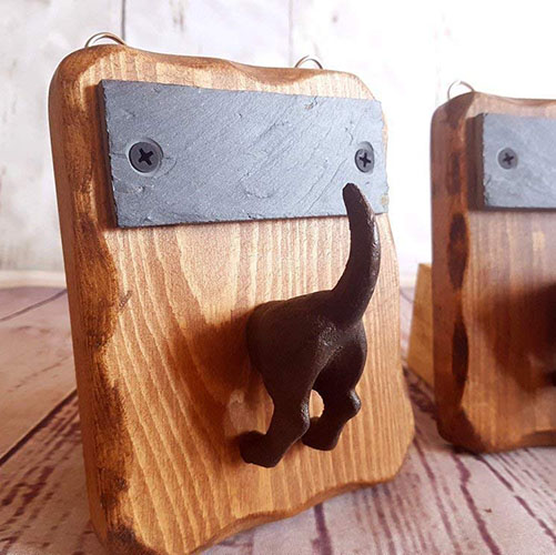 Wooden Dog Lead Holder UK