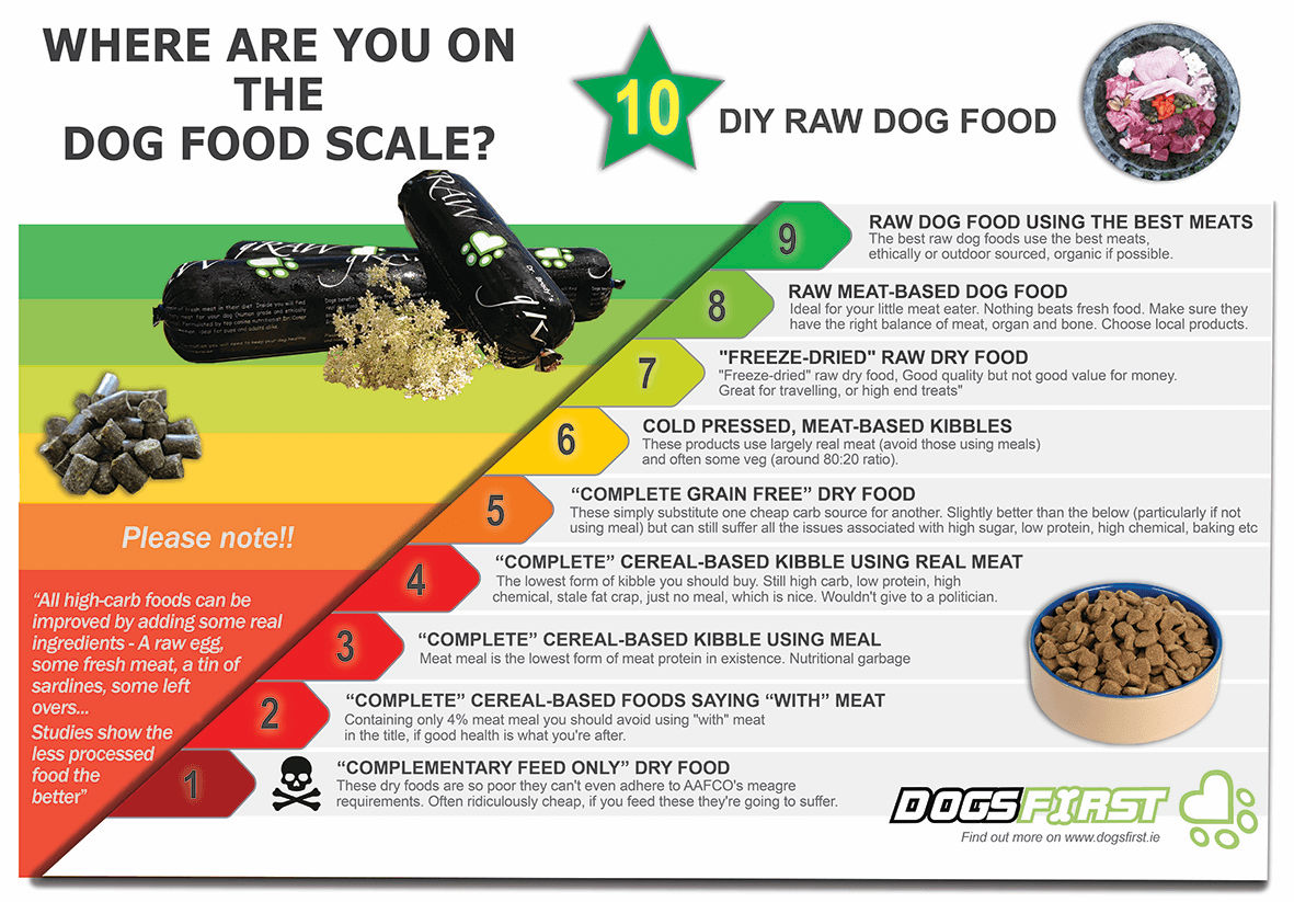 Where are you on the dog food scale?!