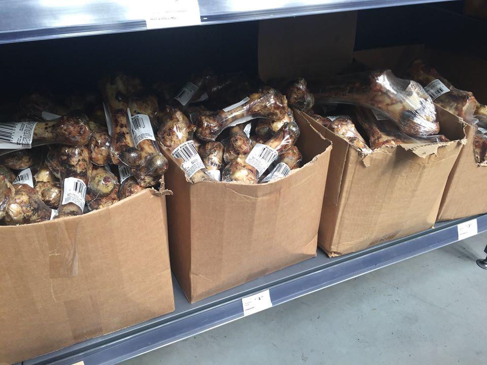 cooked bones in pet shops